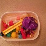 100均セリアのザルとバットのセットはお風呂のおもちゃ片付けに便利!