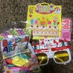 100円均一ショップのダイソーの誕生日グッズは、毎年購入決定!